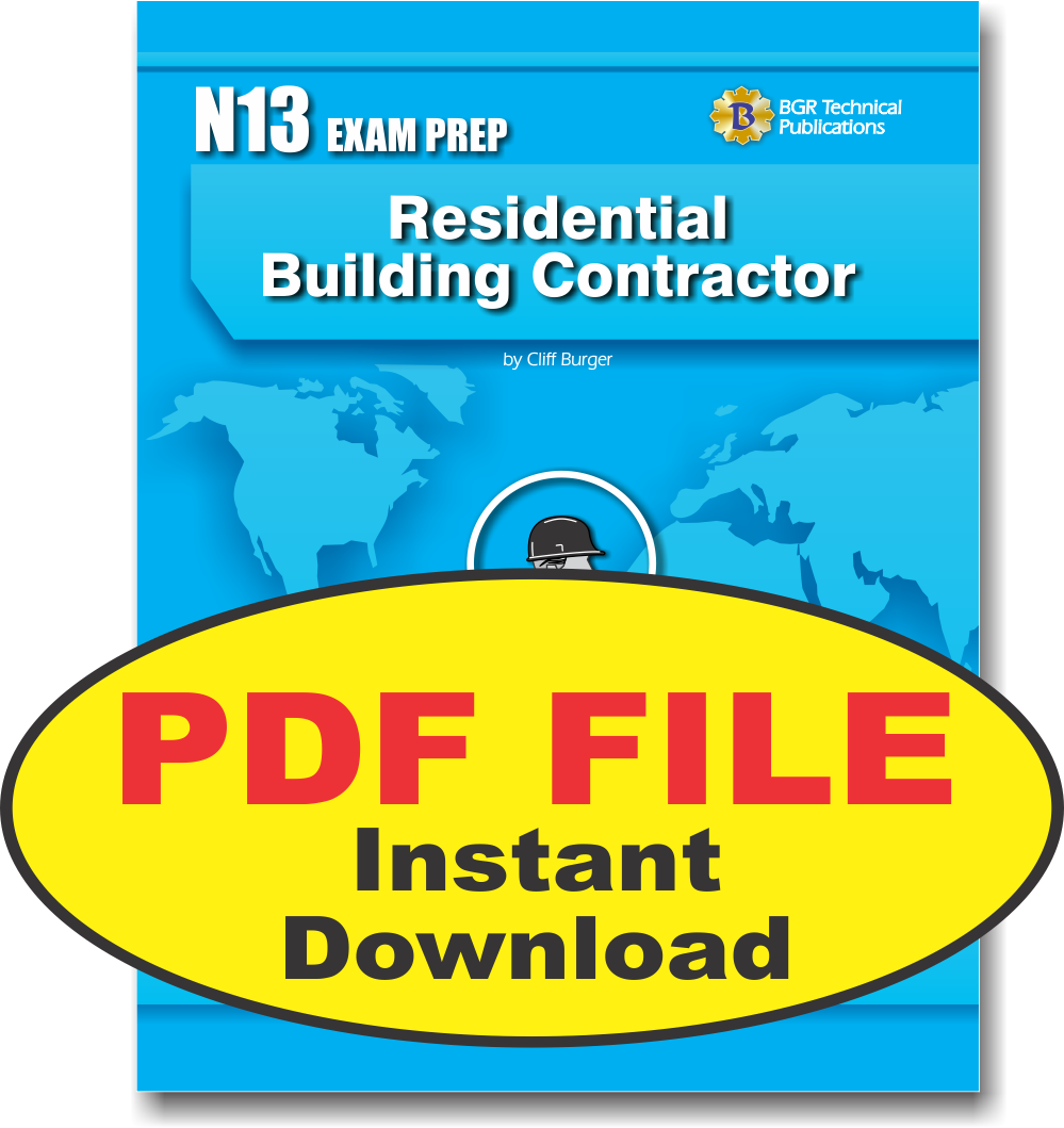 N13 National Standard Residential Building Contractor C Pdf Study