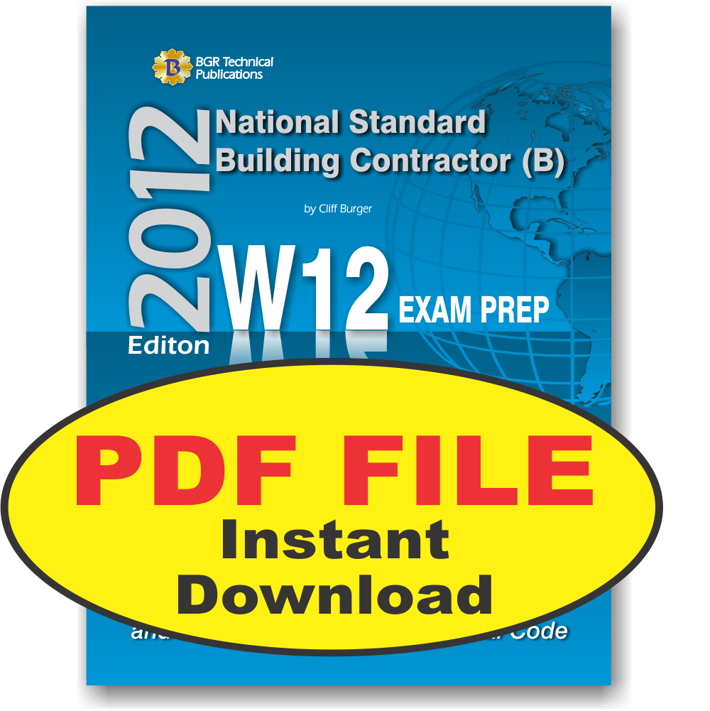 W12 National Standard General Building Contractor B Pdf Study