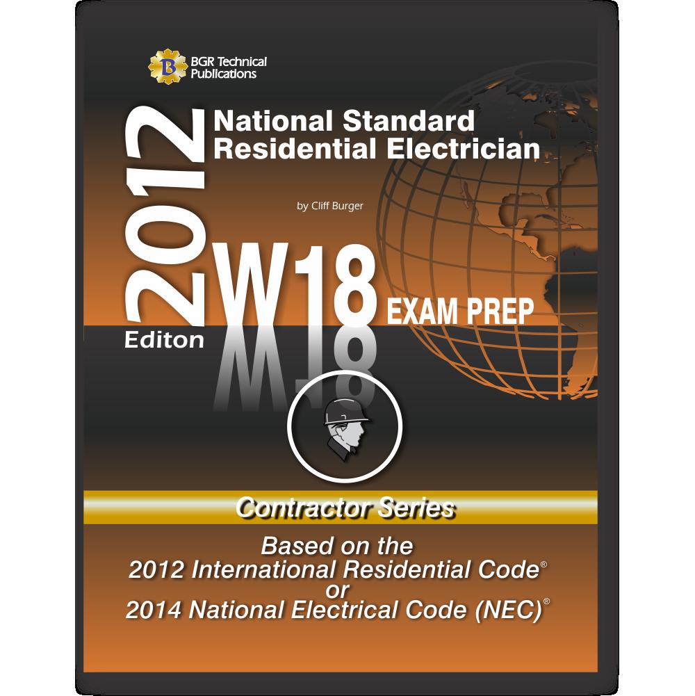 W18 National Standard Residential Electrician Workbook ICC Exam ...